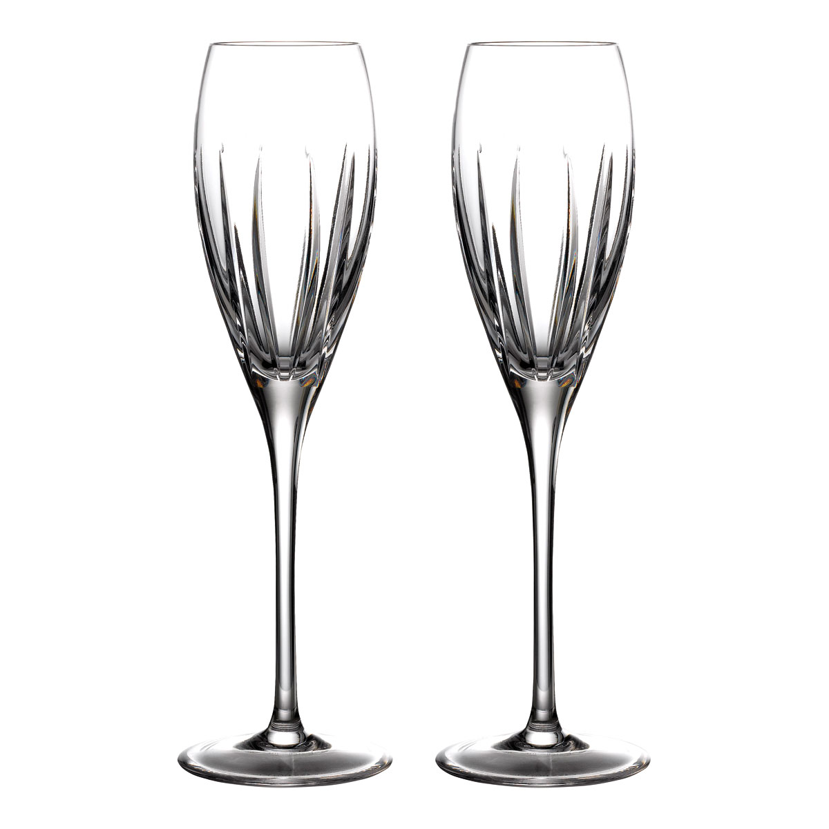 Waterford Crystal Ardan Tonn Champagne Flutes, Pair