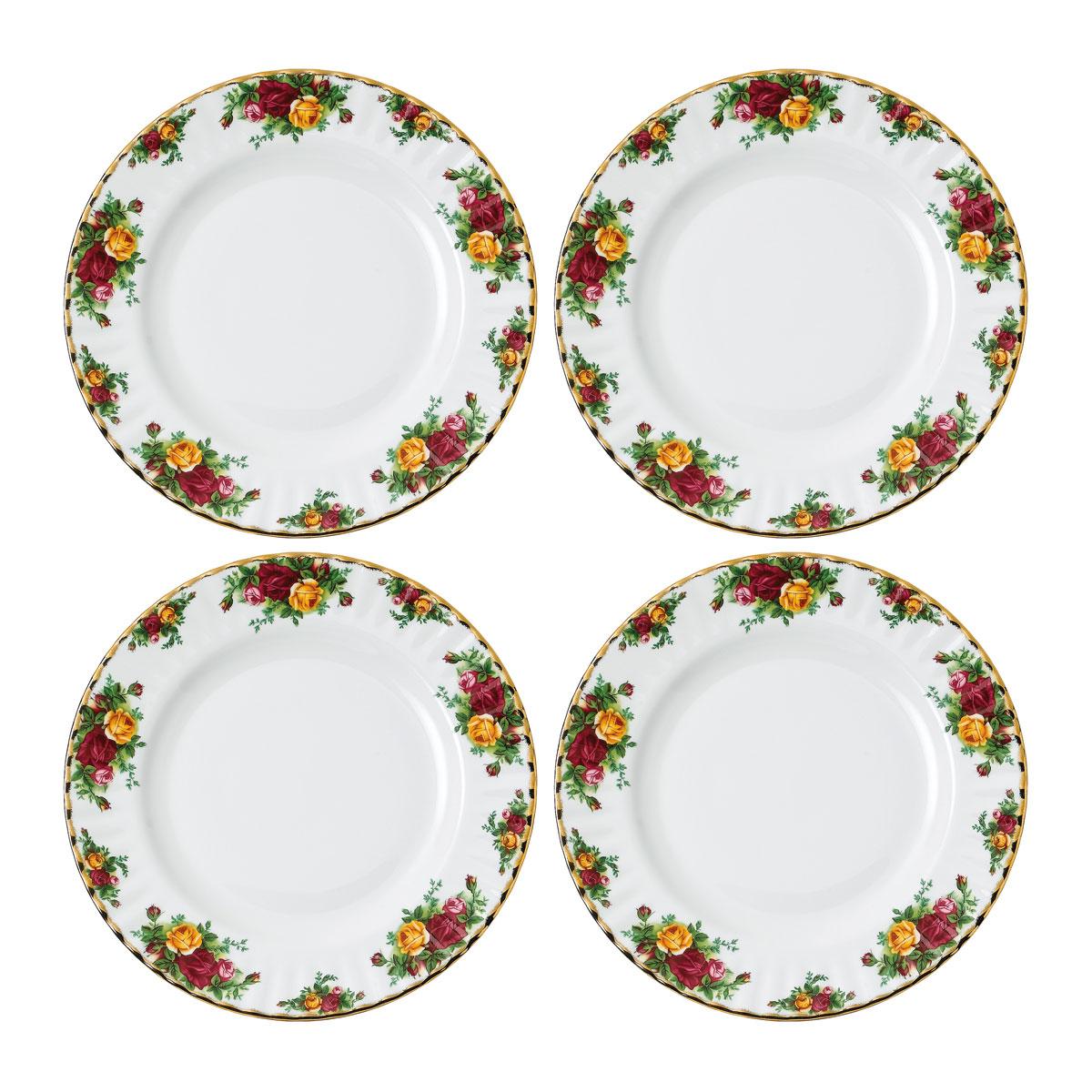 Royal Albert Old Country Roses Dinner Plate Set of 4
