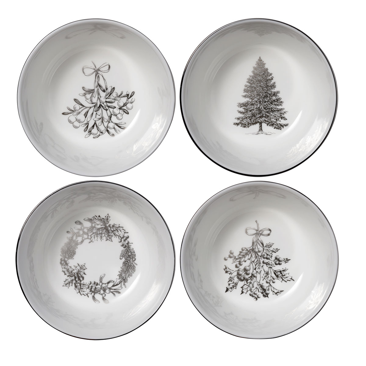 Wedgwood 2021 Winter White Nibble Bowl Set of 4