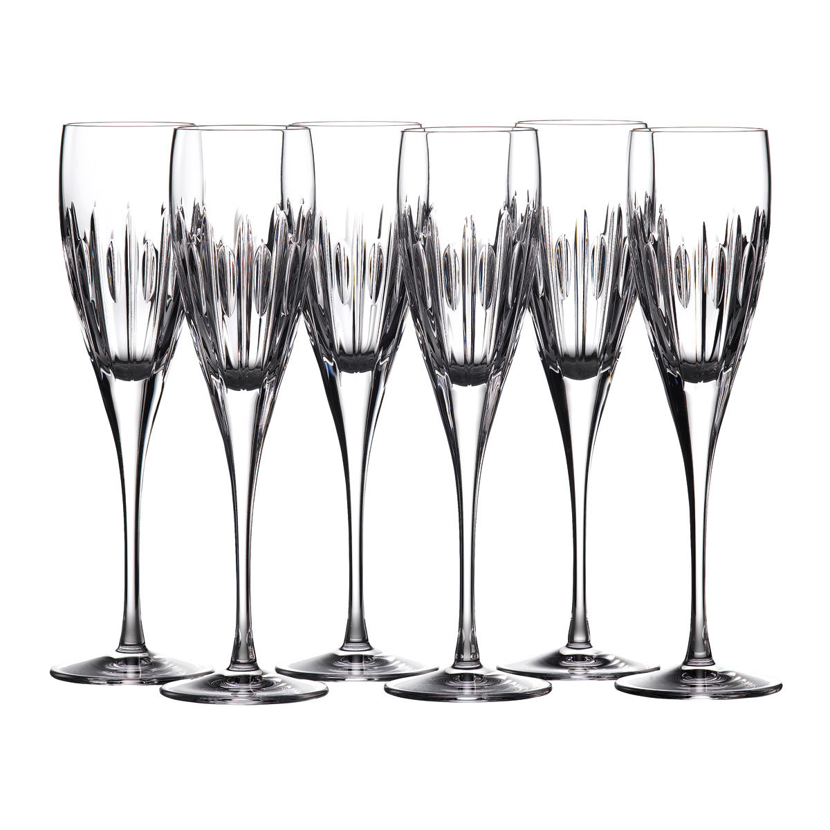 Waterford Crystal Ardan Mara Flutes, Set of 6