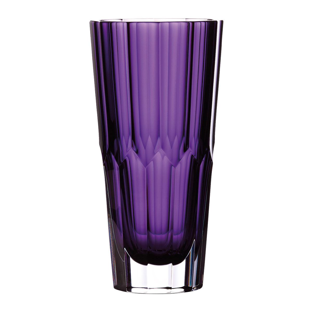 "Waterford Crystal Fleurology Jeff Leatham Icon 10"" Amethyst Vase"