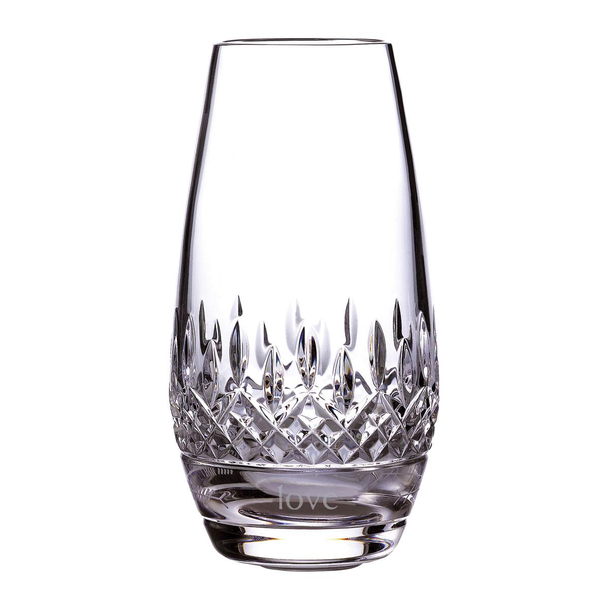 """Waterford Lismore Ogham Bud """"Love"""" Vase"""