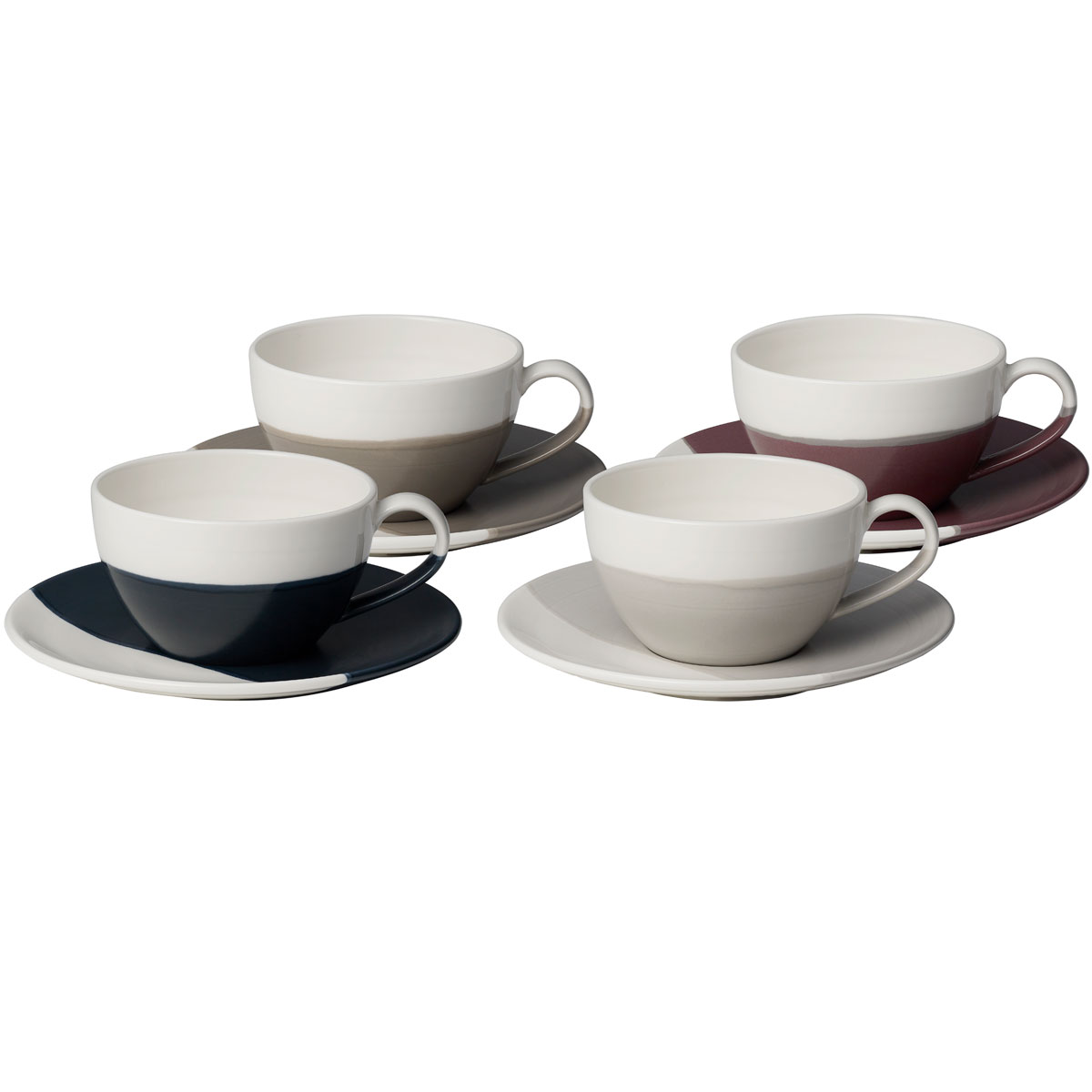 Royal Doulton Coffee Studio Cappuccino Cup and Saucer Set of 4