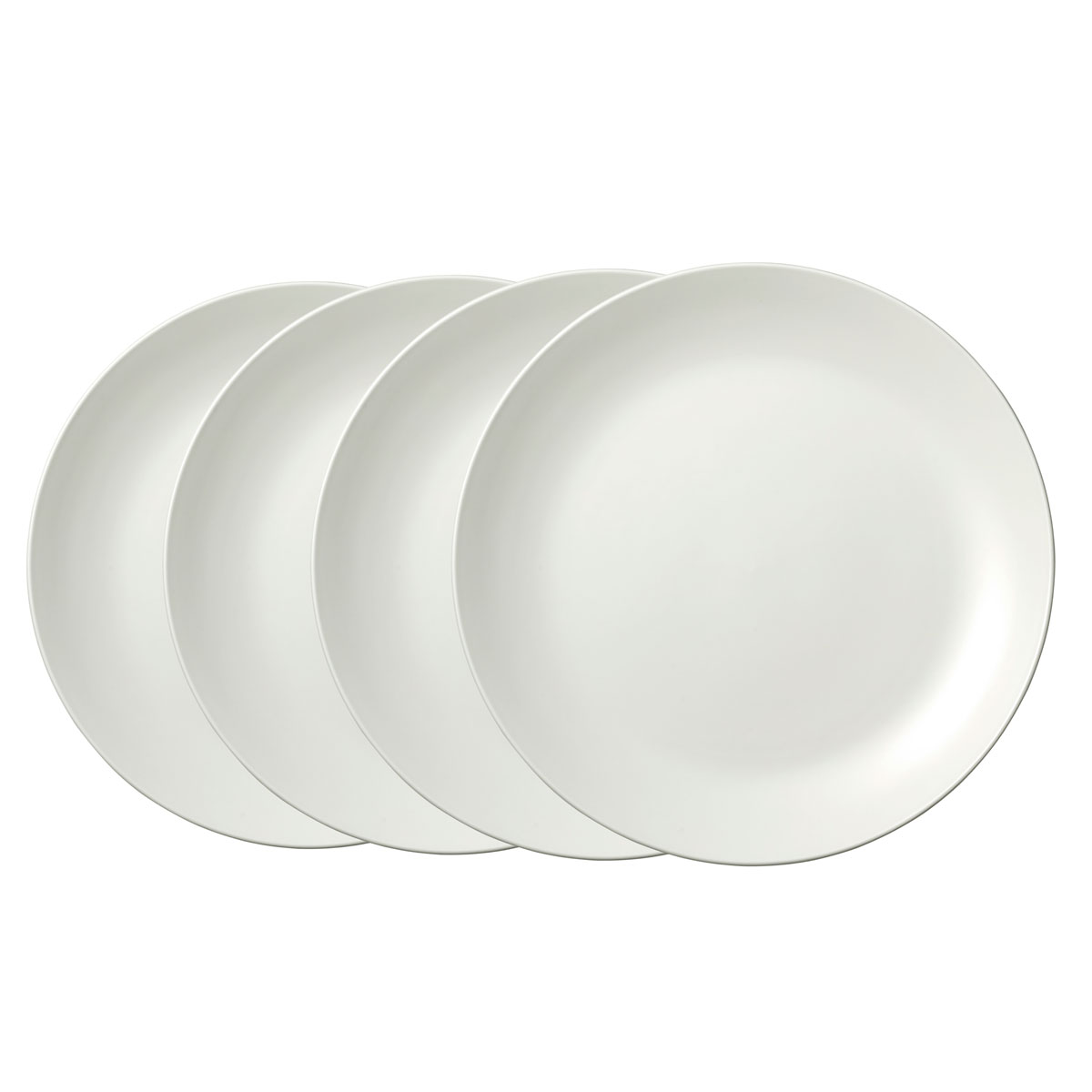 Vera Wang Wedgwood Bone China Perfect White Dinner Plate Set of Four