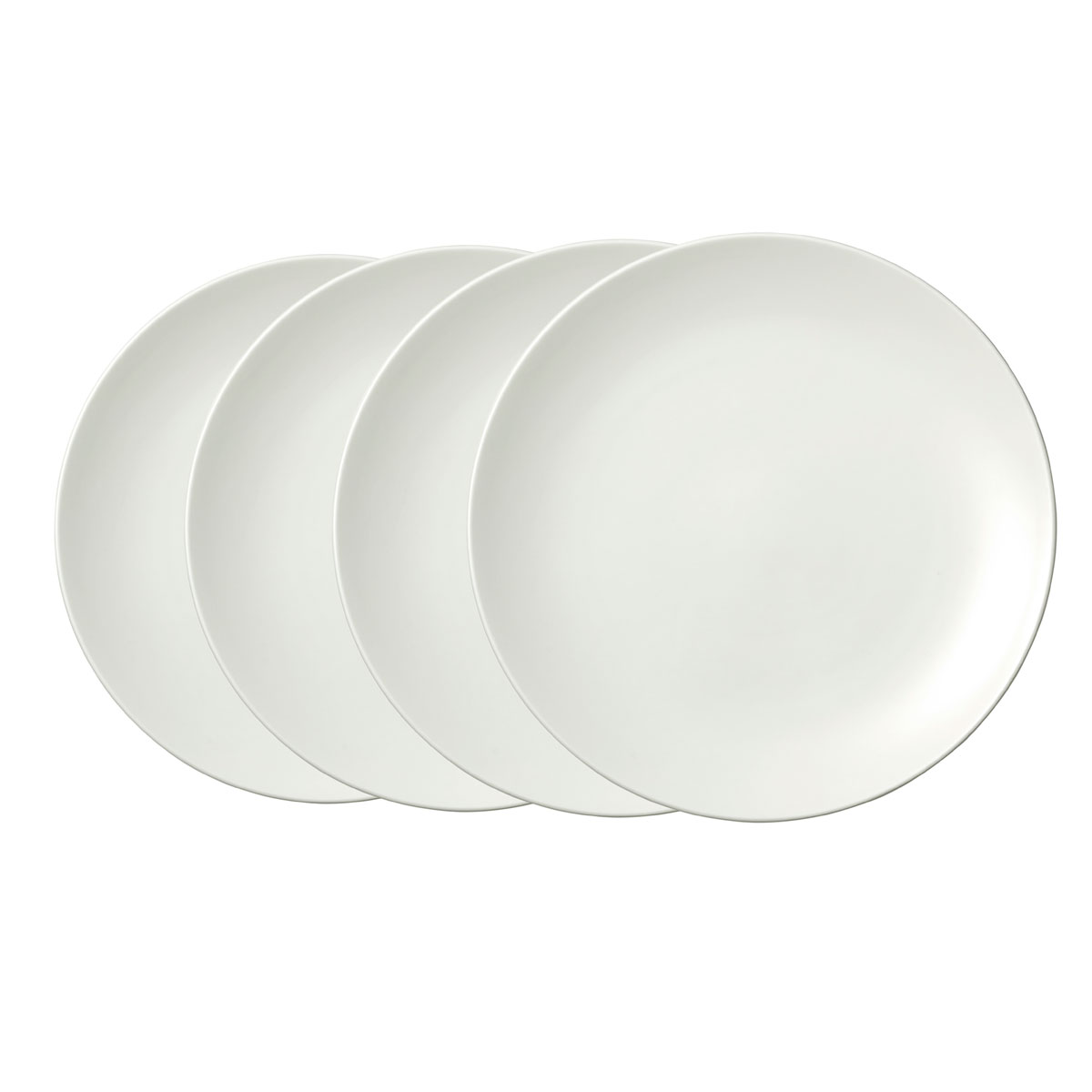 Vera Wang Wedgwood Bone China Perfect White Salad Plate Set of Four