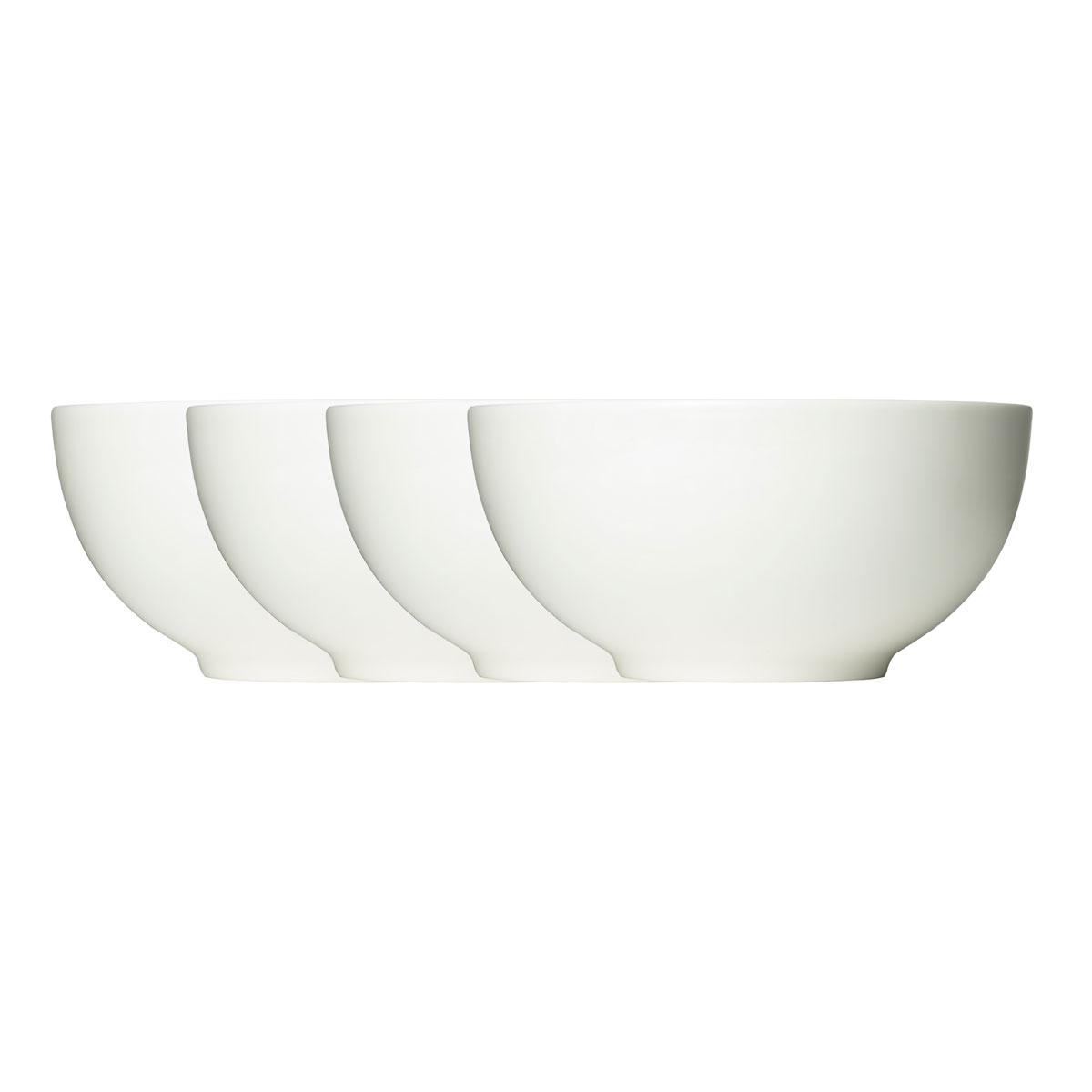 Vera Wang Wedgwood Bone China Perfect White Soup Cereal Bowl Set of Four
