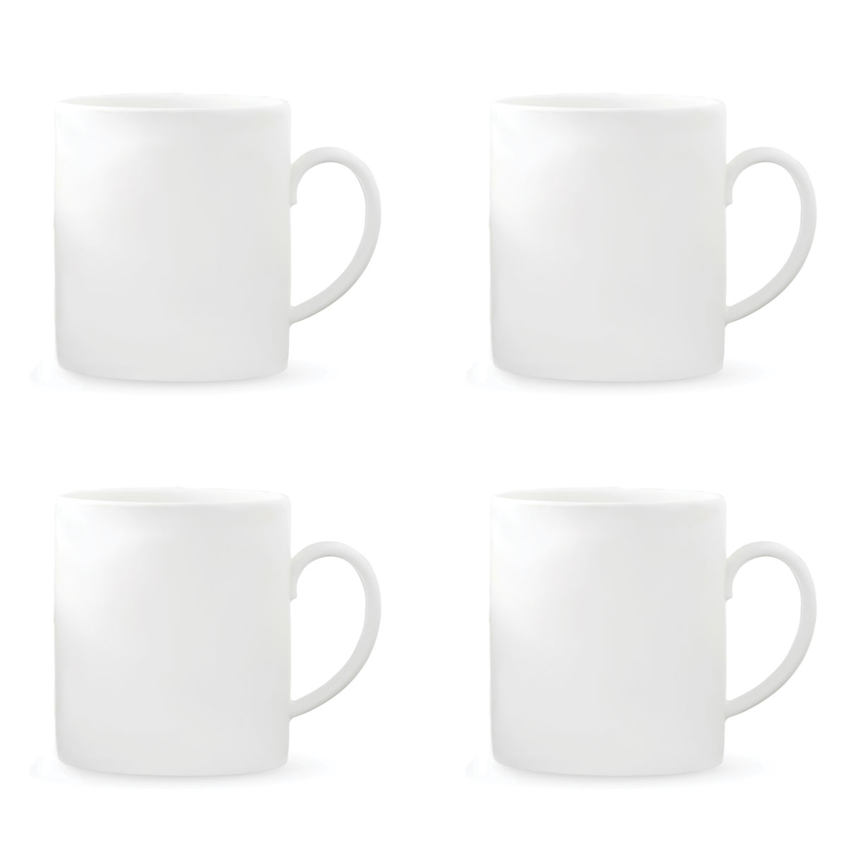 Vera Wang Wedgwood Bone China Perfect White Mug Set of Four