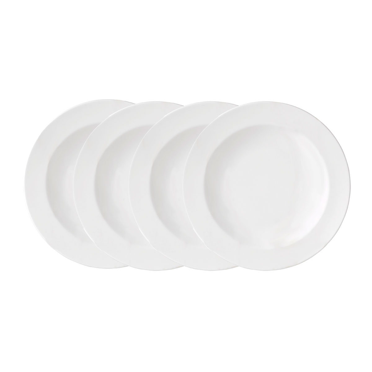 Vera Wang Wedgwood Bone China Perfect White Rim Soup Set of Four