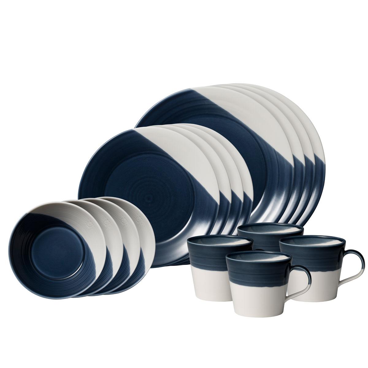 Royal Doulton Bowls of Plenty 16-Piece Set Dark Blue