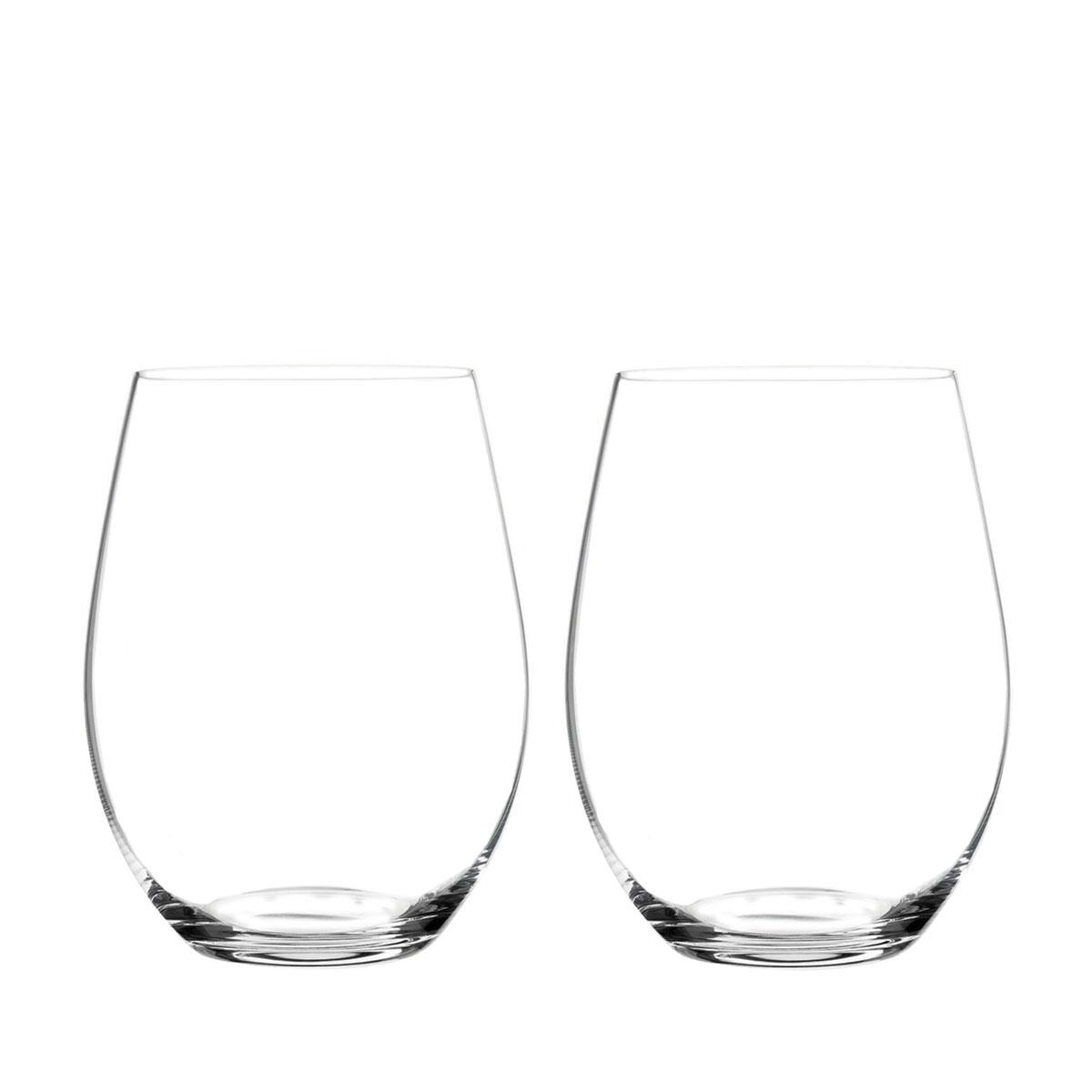 Riedel Big O Stemless, Cabernet Wine Glasses, Pair