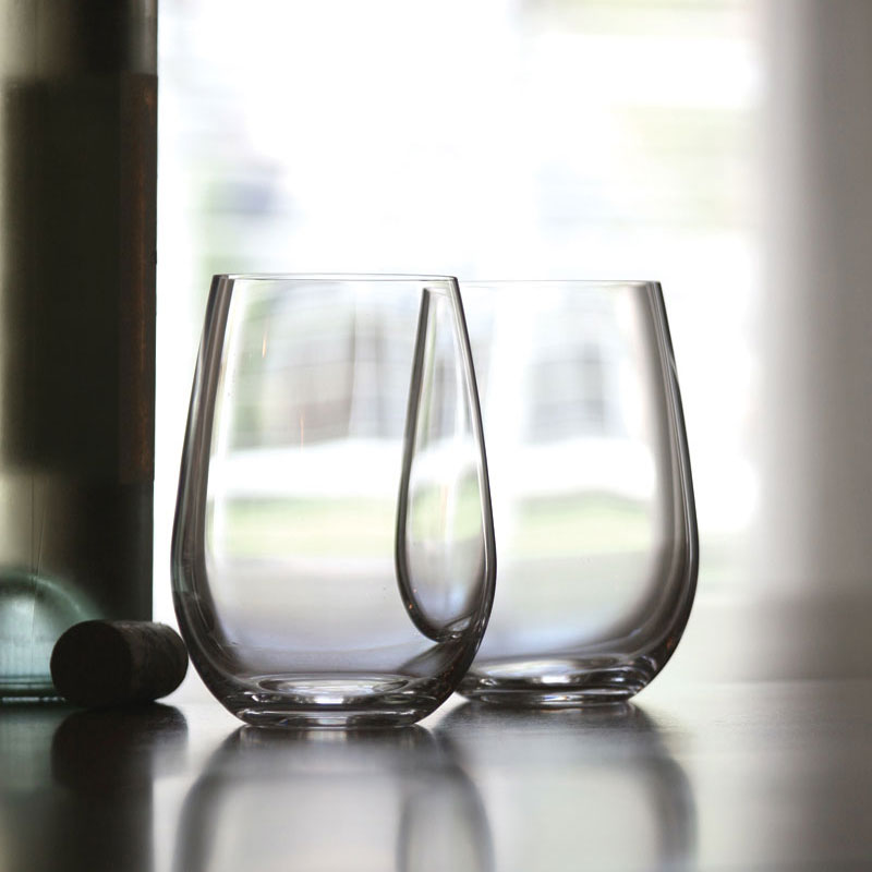 Riedel O Stemless, Riesling Sauvignon Blanc Wine Glasses, Pair