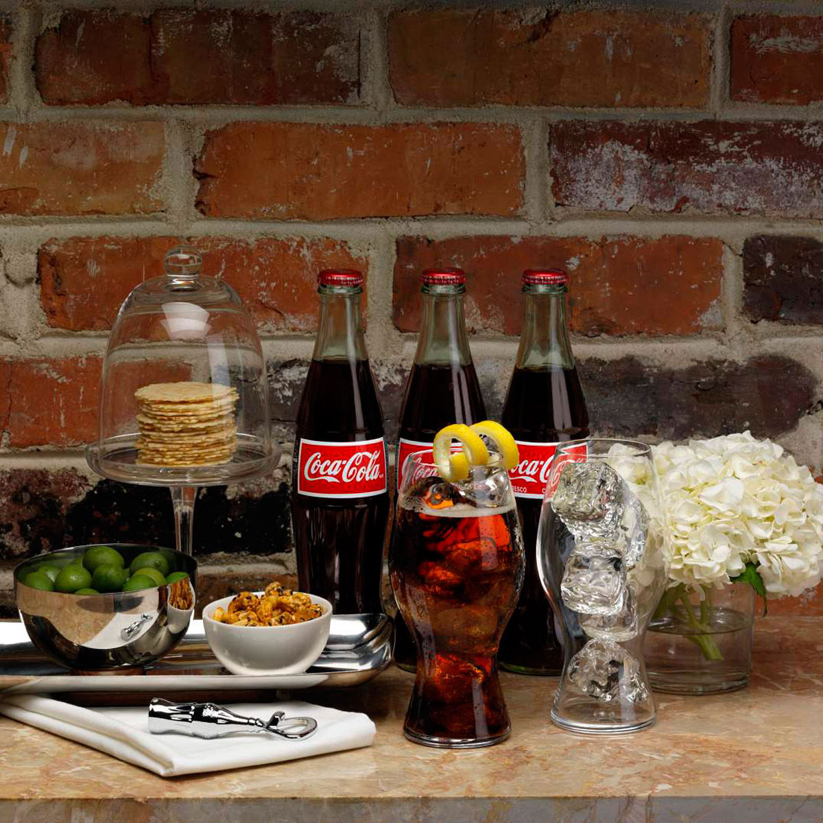 Coca-Cola and Riedel Crystal Glasses, Pair