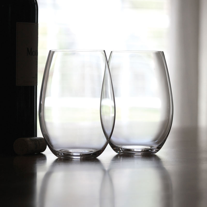 Riedel O Stemless, Syrah, Shiraz Crystal Wine Glasses, Pair