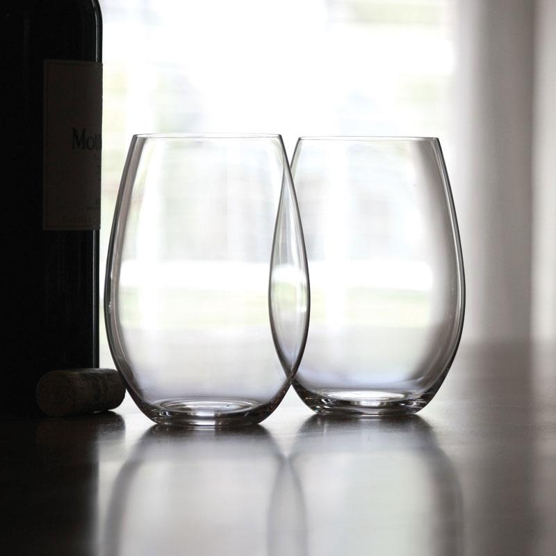 Riedel O Stemless, Syrah, Shiraz Wine Glasses, Pair