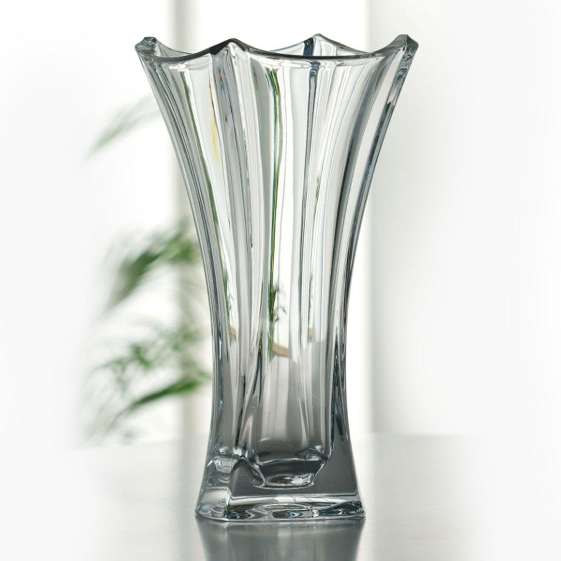 "Galway Crystal Dune Flared 14"" Crystal Vase"