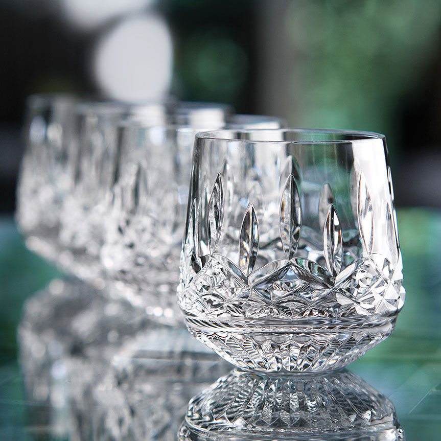 Waterford Crystal, Lismore Roly Poly Glasses, Set of Four
