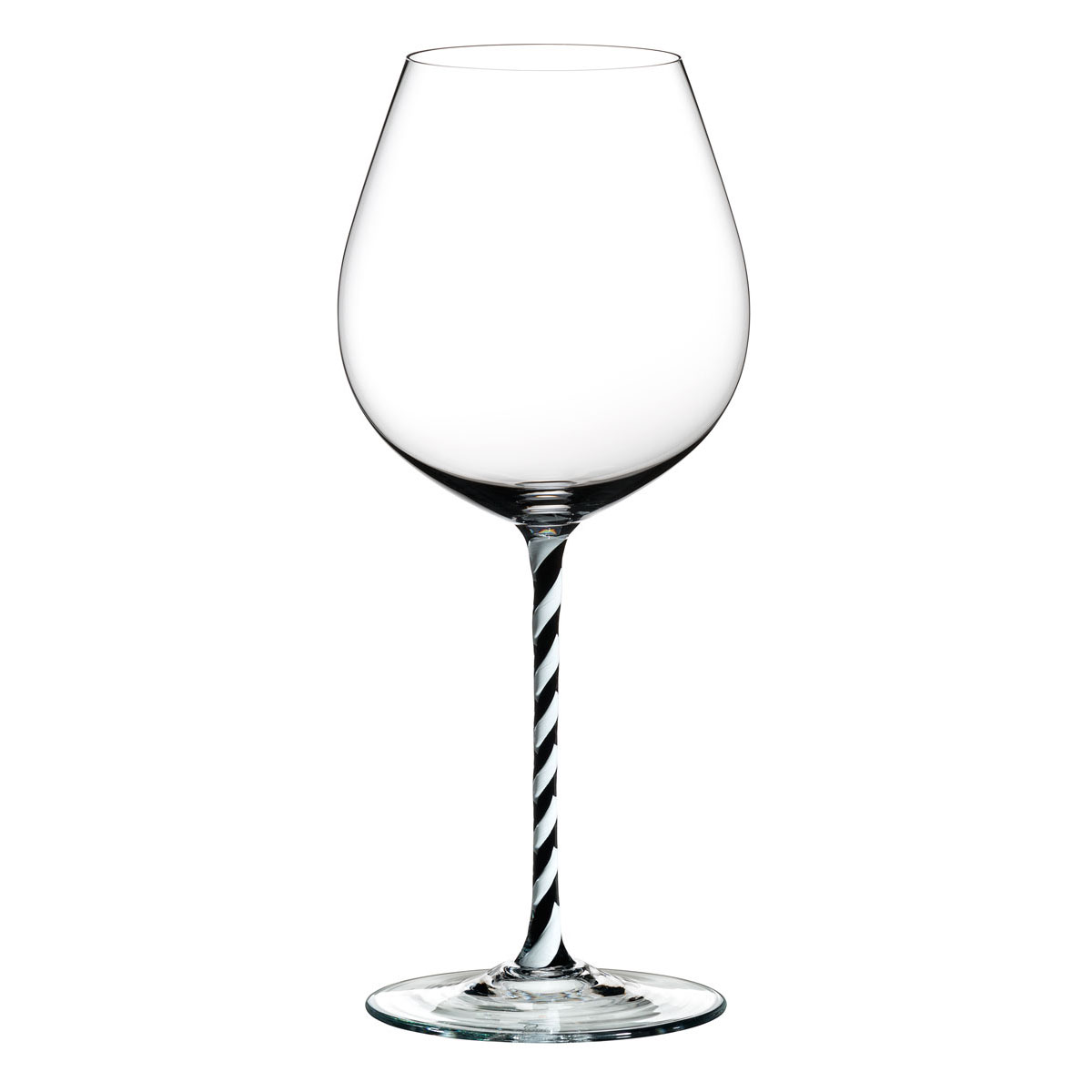 Riedel Fatto A Mano, Old World Pinot Noir, Black and White Twist Crystal Wine Glass