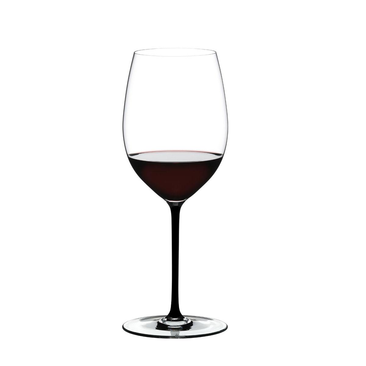 Riedel Fatto A Mano, Cabernet, Merlot Black Wine Glass, Single