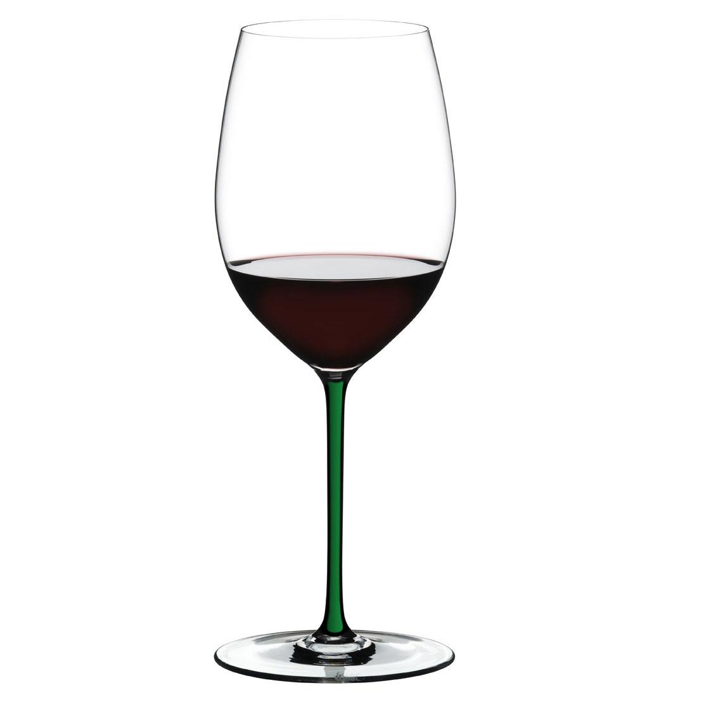 Riedel Fatto A Mano, Cabernet, Merlot Green Wine Glass, Single