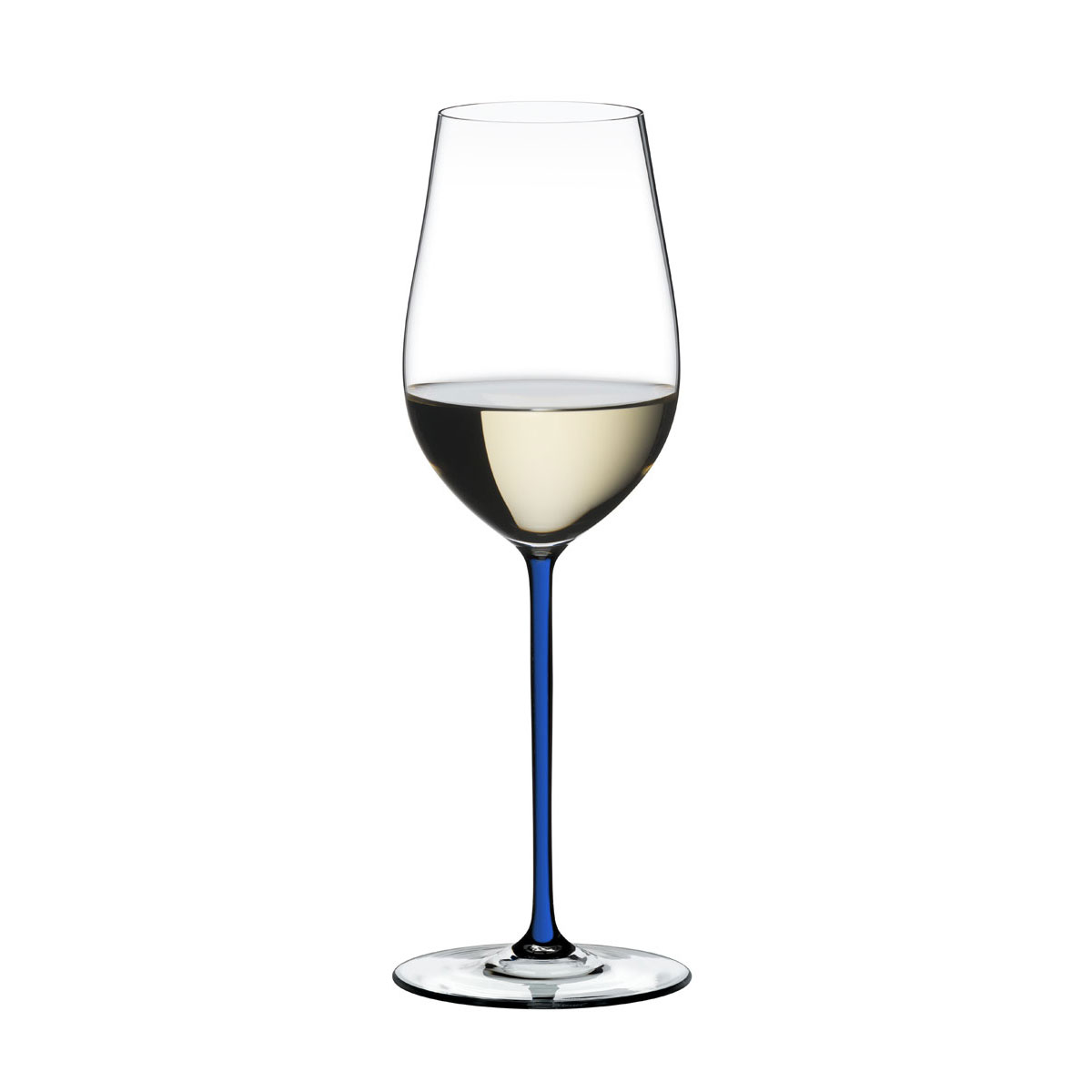 Riedel Fatto A Mano, Riesling, Zinfandel Crystal Wine Glass, Blue