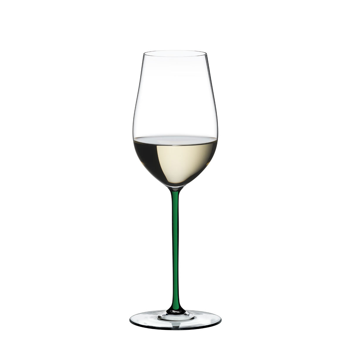 Riedel Fatto A Mano, Riesling, Zinfandel Crystal Wine Glass, Green