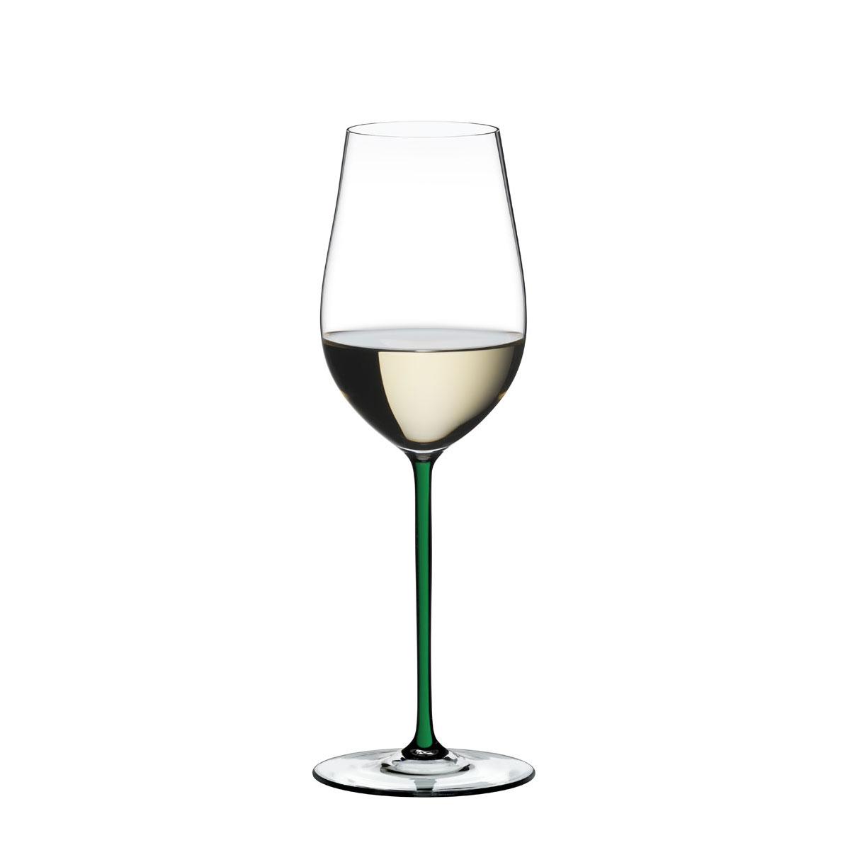 Riedel Fatto A Mano, Riesling, Zinfandel Wine Glass, Green