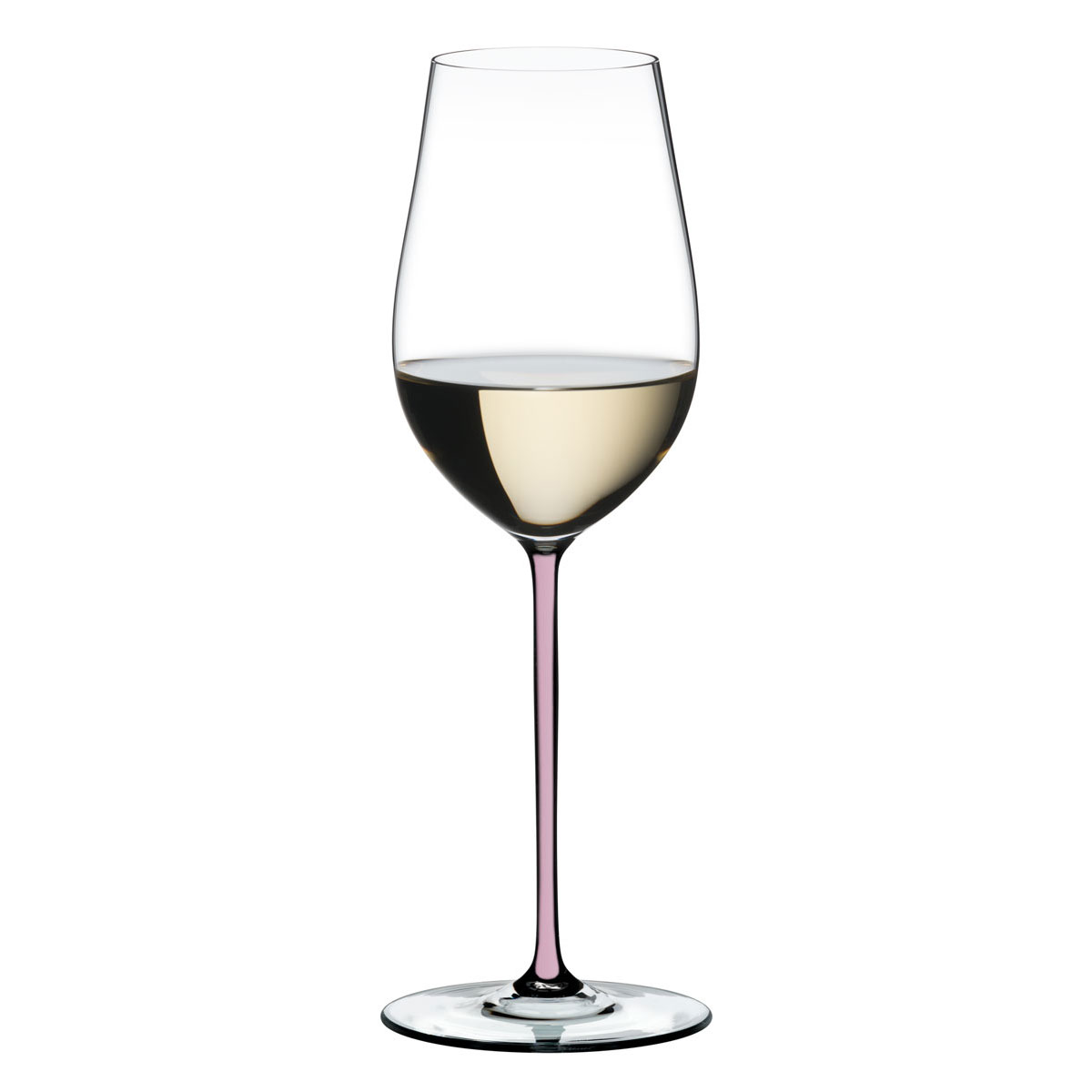 Riedel Fatto A Mano Riesling, Zinfandel Crystal Wine Glass, Pink
