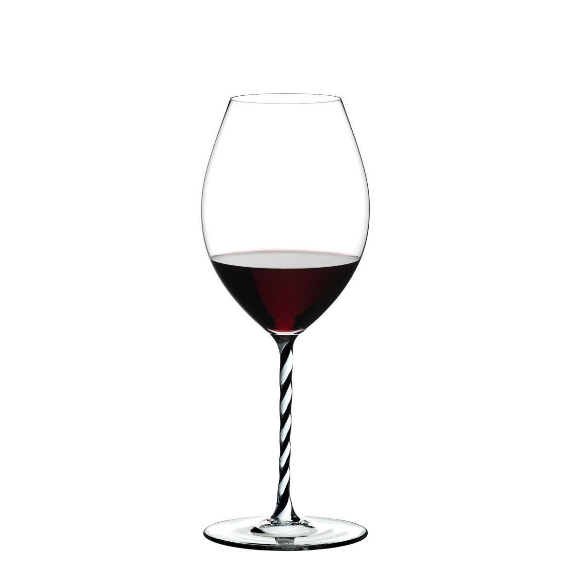 Riedel Fatto A Mano, Old World Syrah, Black and White Twist Wine Glass