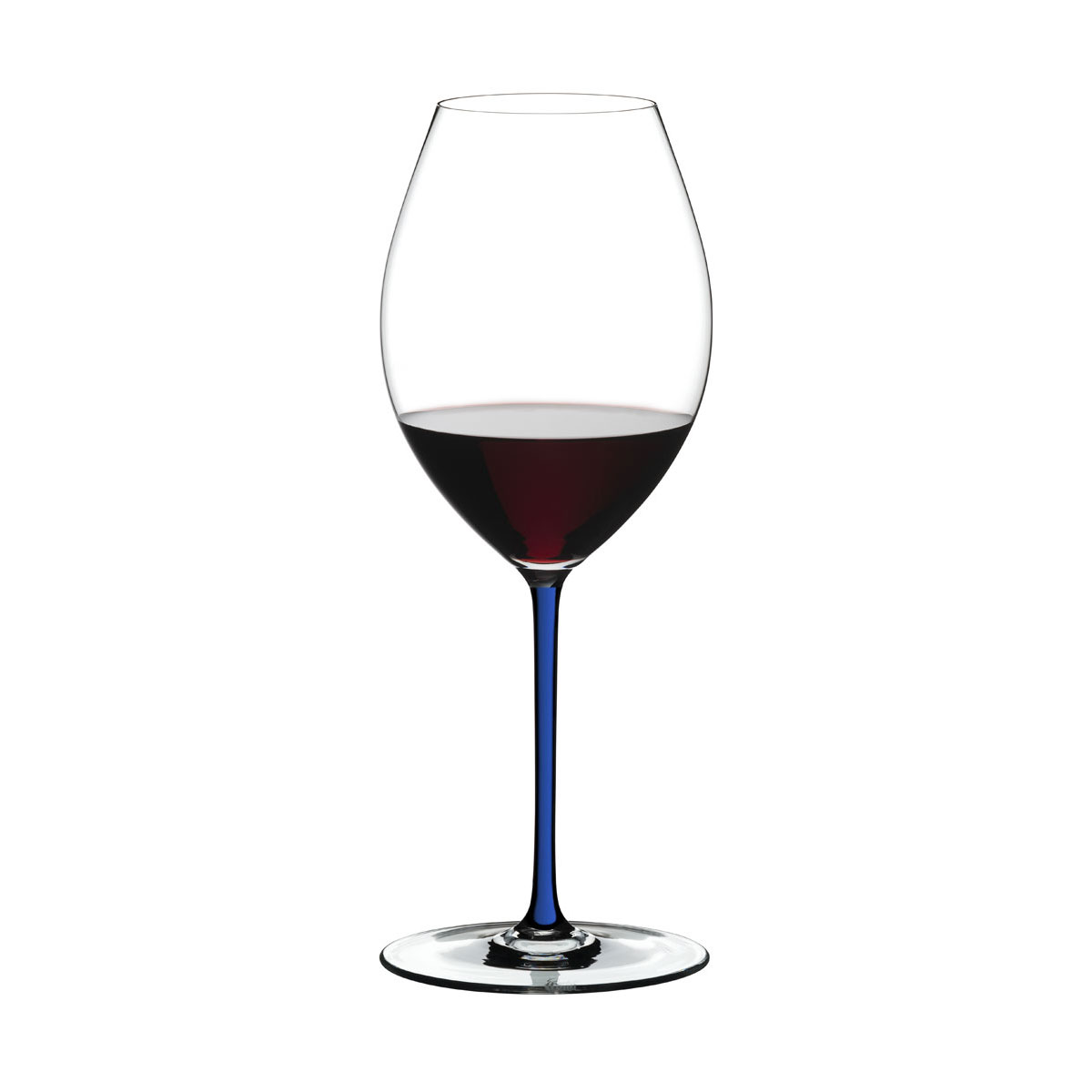Riedel Fatto A Mano, Old World Syrah Crystal Wine Glass, Blue
