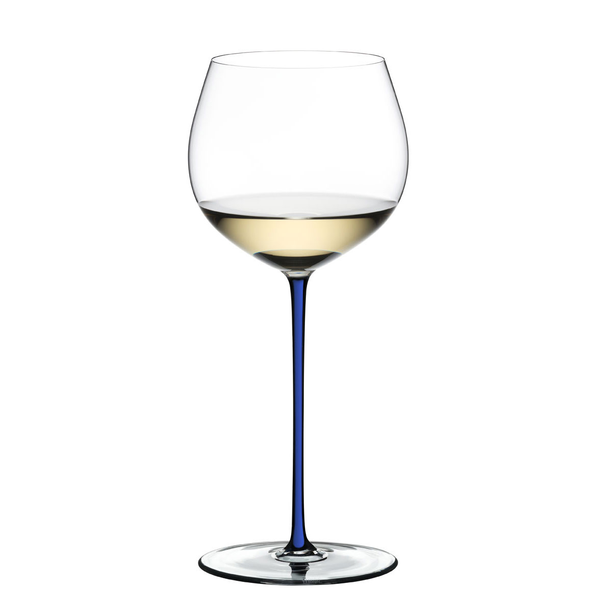Riedel Fatto A Mano, Oaked Chardonnay Crystal Wine Glass, Blue