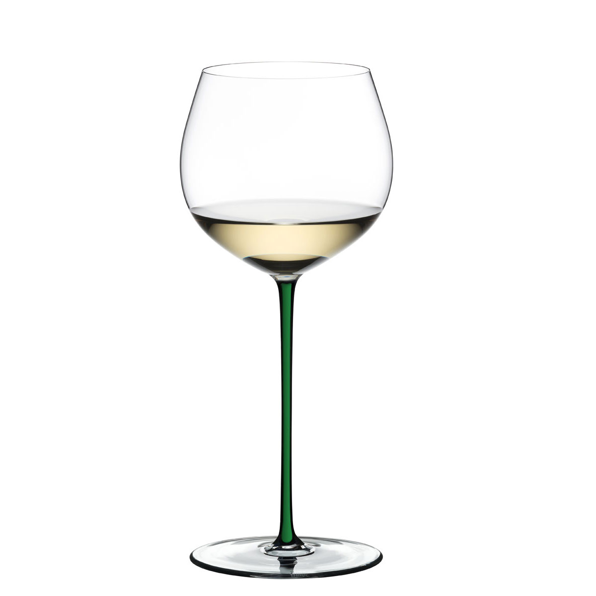 Riedel Fatto A Mano, Oaked Chardonnay Crystal Wine Glass, Green