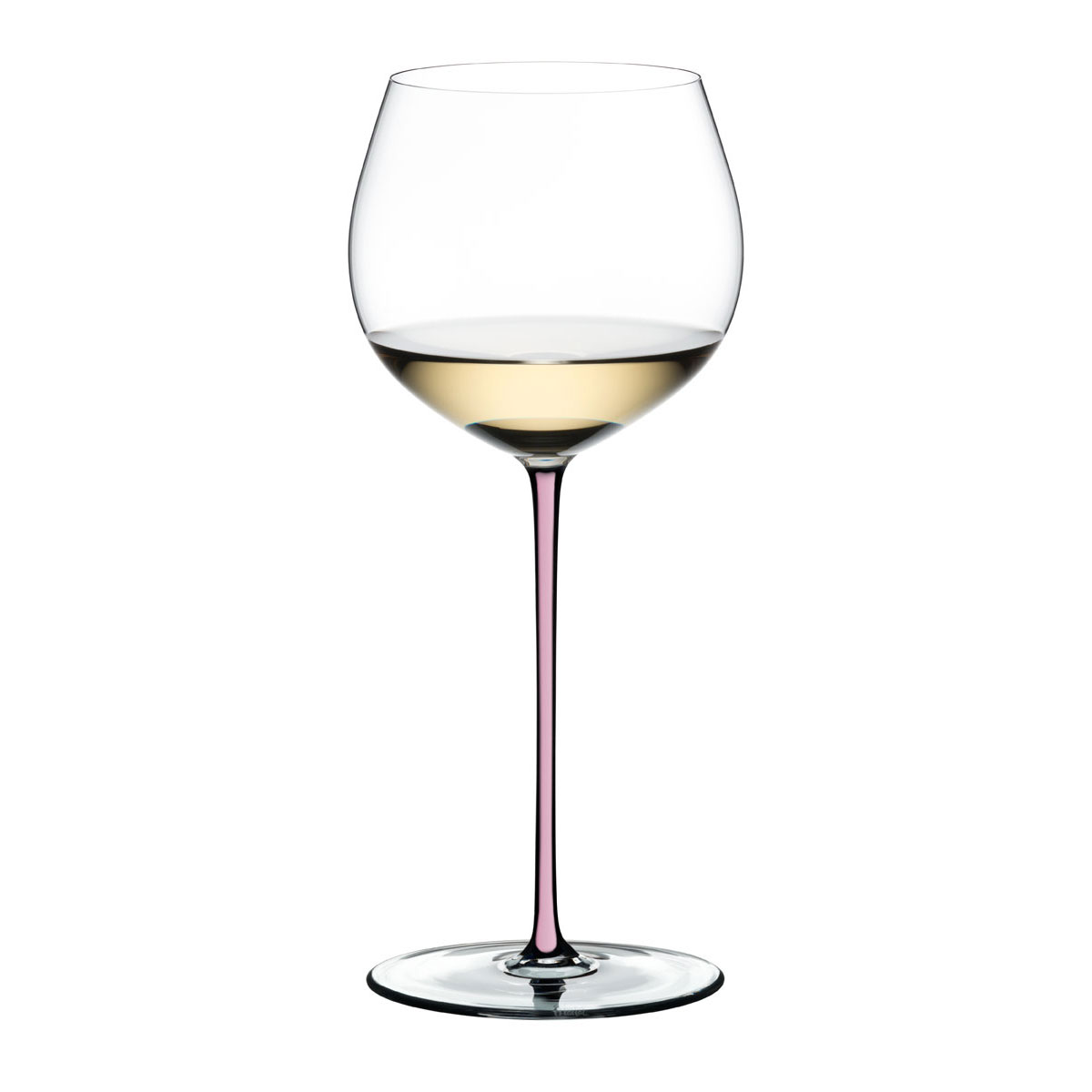 Riedel Fatto A Mano Oaked Chardonnay Crystal Wine Glass, Pink