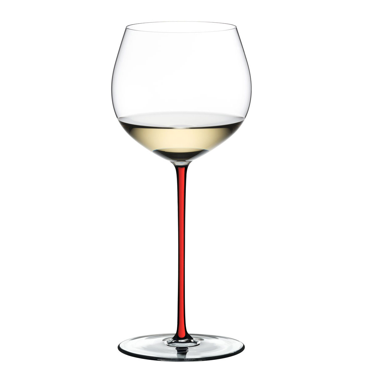 Riedel Fatto A Mano, Oaked Chardonnay Crystal Wine Glass, Red