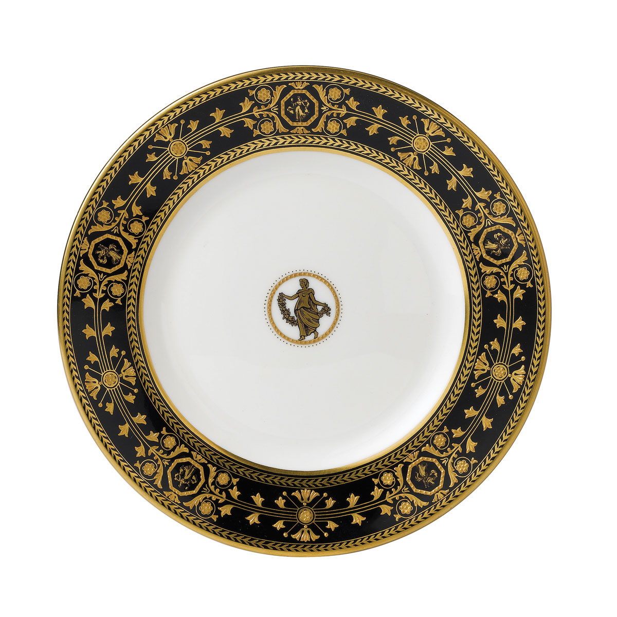 """Wedgwood Astbury Black Bread and Butter Plate 7"""""""