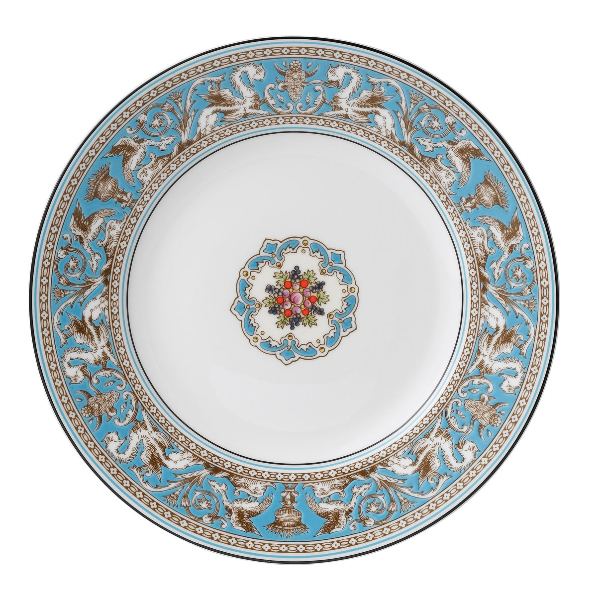 """Wedgwood Florentine Turquoise Accent Salad Plate 9"""""""