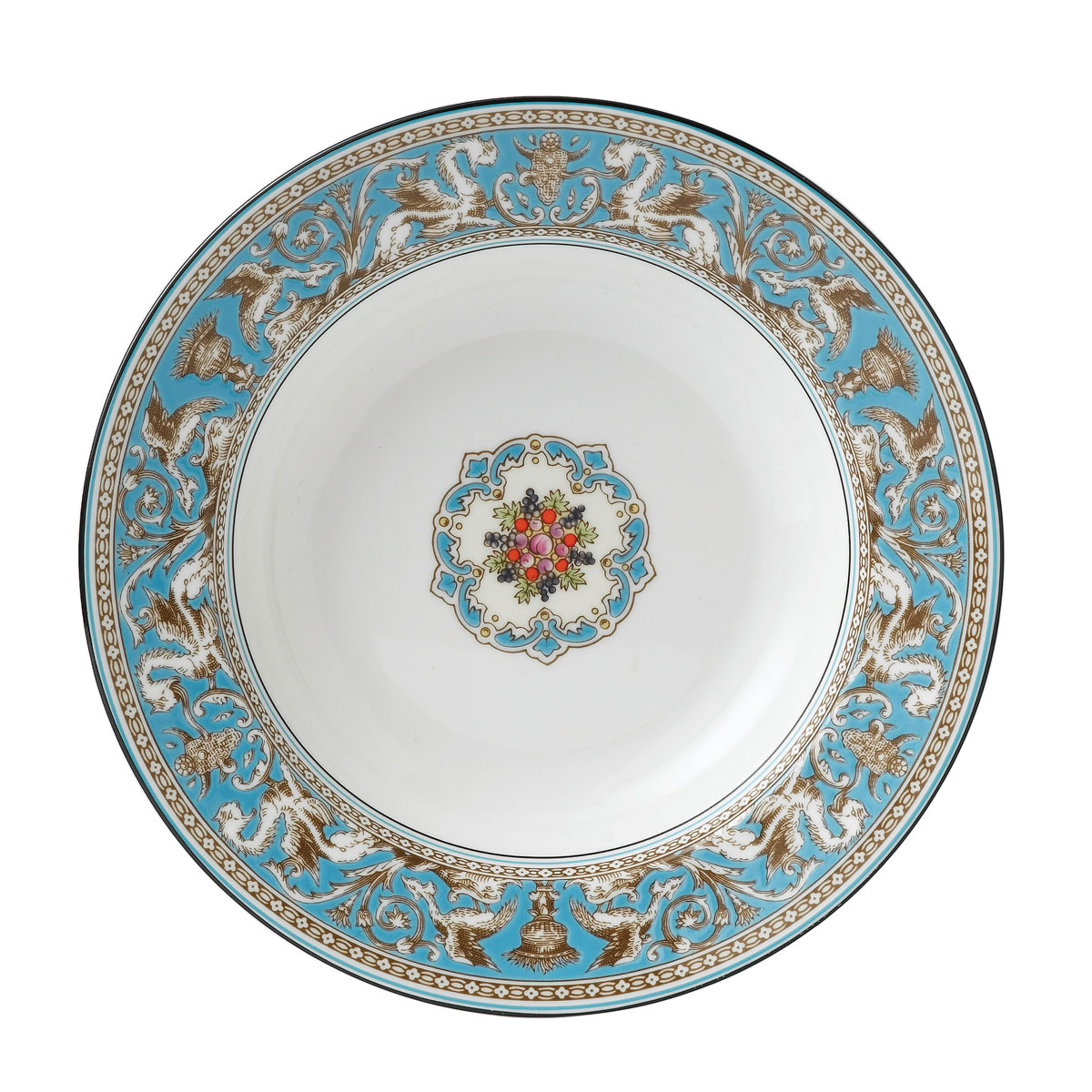 "Wedgwood Florentine Turquoise Rim Soup 9"""