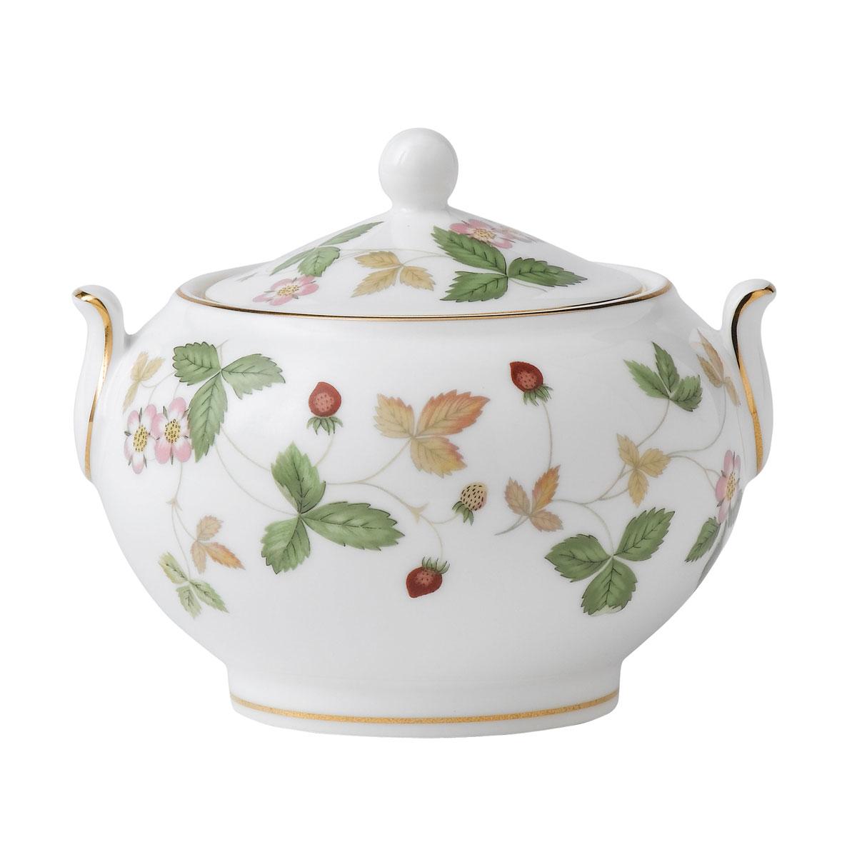 Wedgwood Wild Strawberry Covered Sugar Bowl