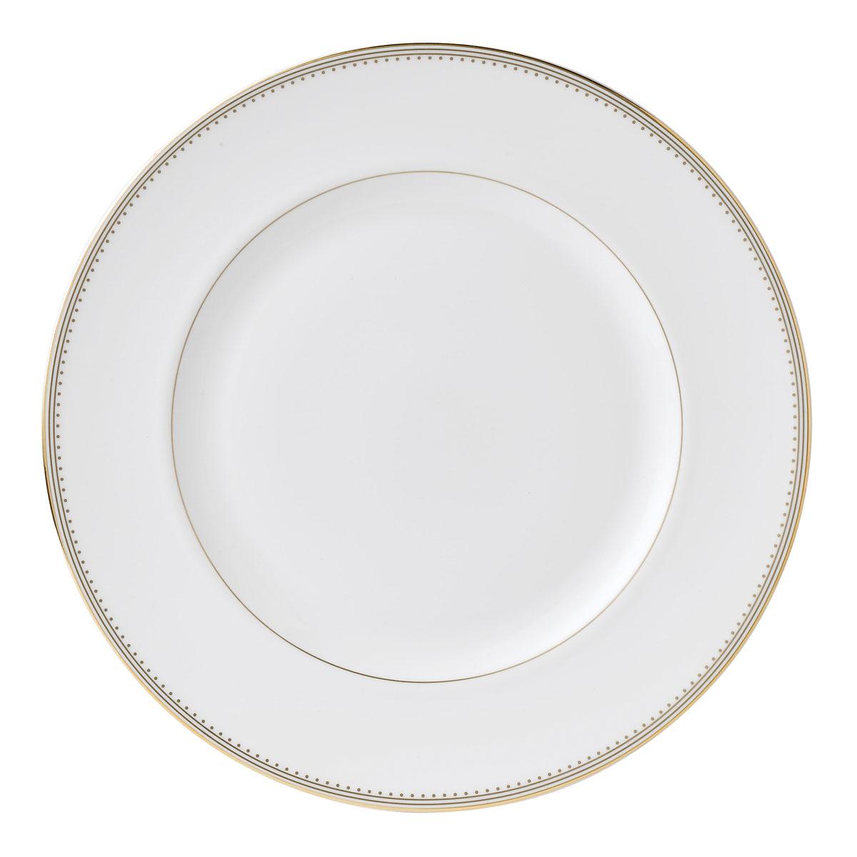 "Vera Wang Wedgwood Golden Grosgrain Dinner Plate 10.75"""