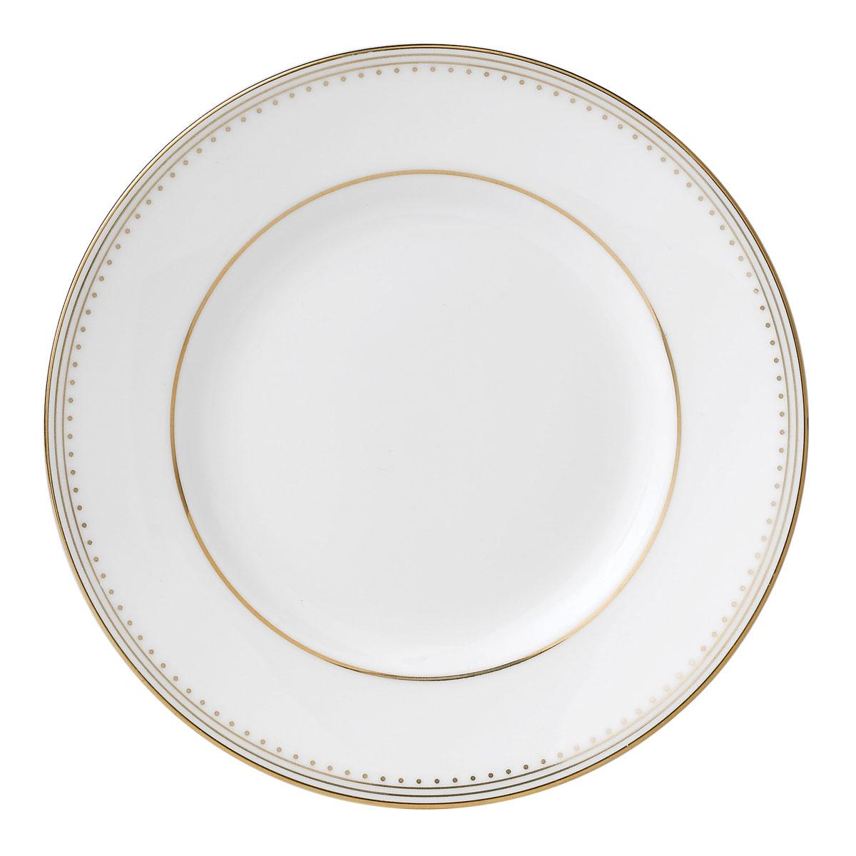 """Vera Wang Wedgwood Golden Grosgrain Bread and Butter Plate 6"""""""