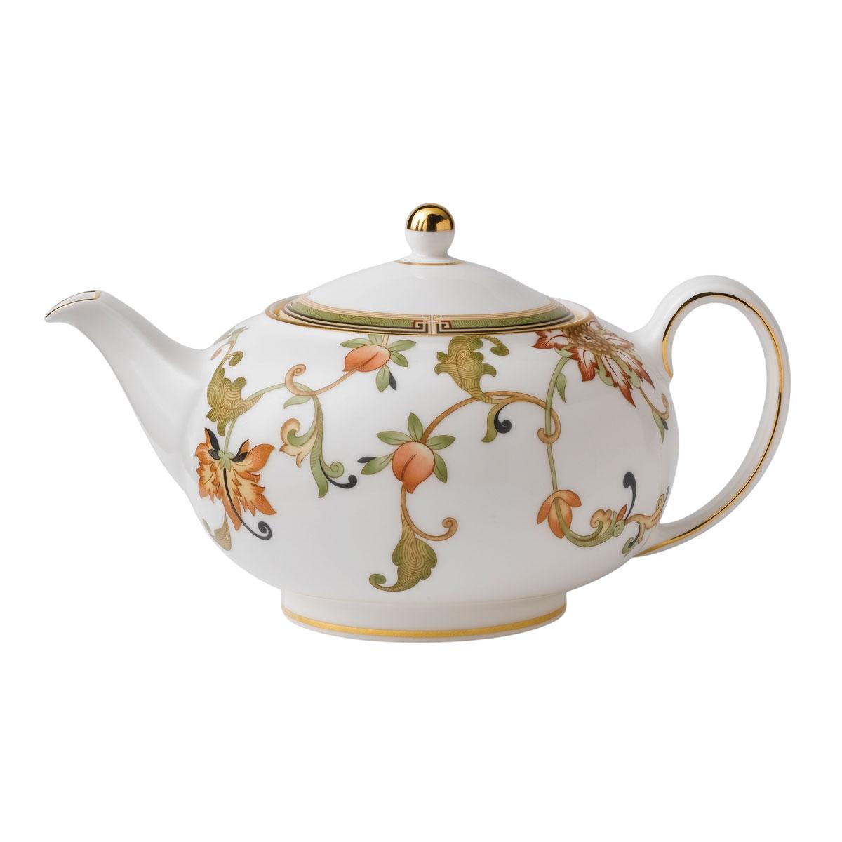 Wedgwood Oberon Teapot 1.4 Pt, 26.9oz. Flora