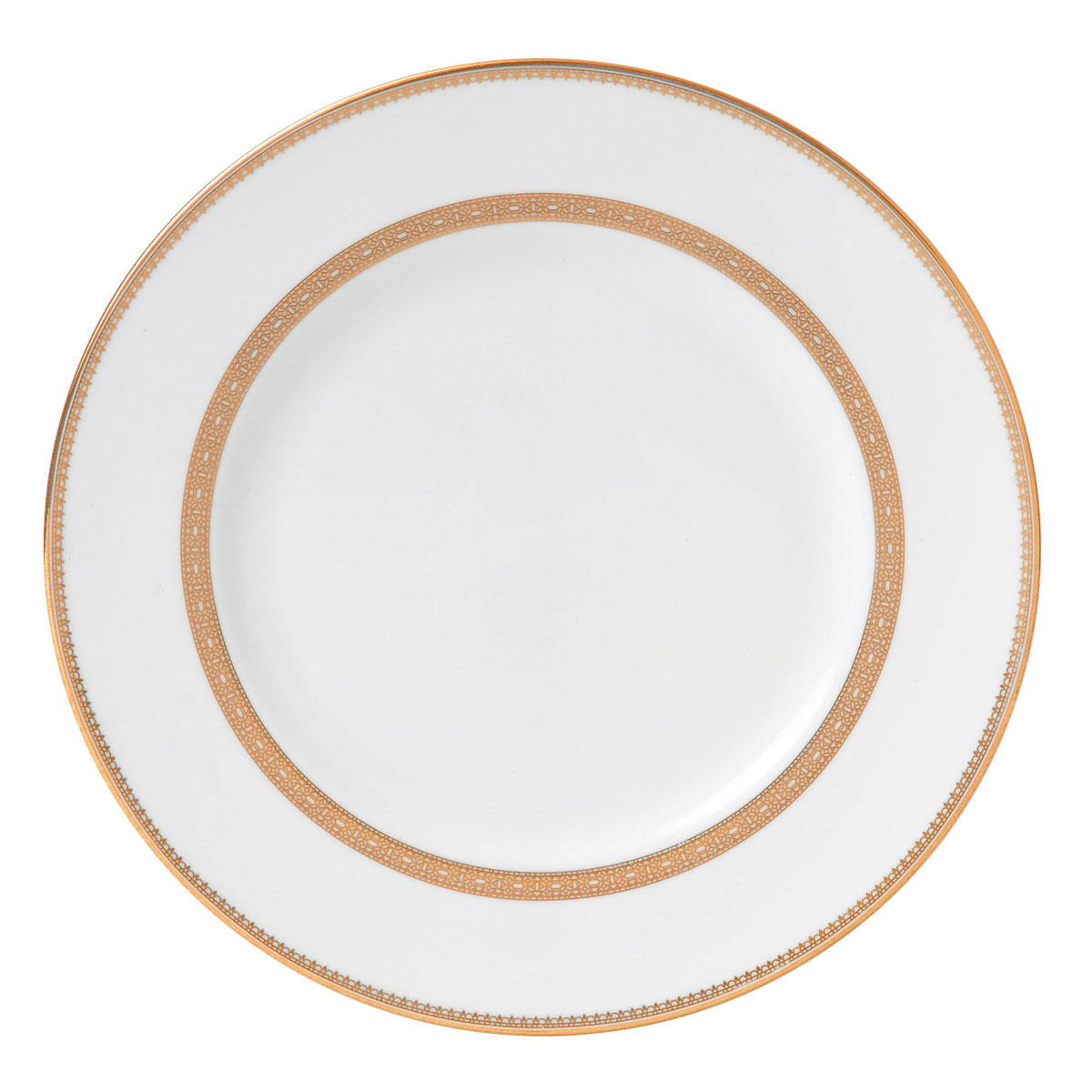 "Vera Wang Wedgwood Vera Lace Gold Dinner Plate 10.75"""