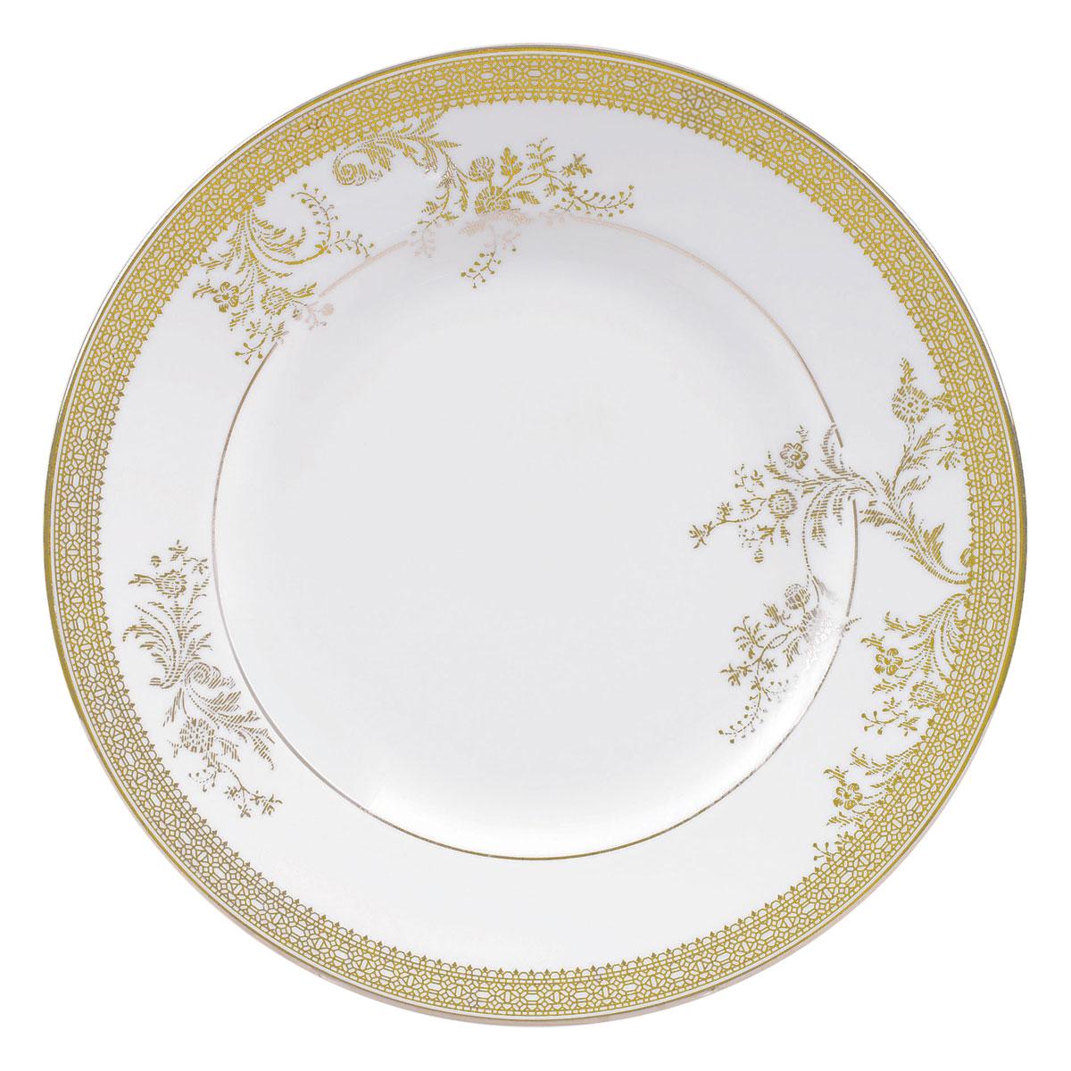 """Vera Wang Wedgwood Vera Lace Gold Salad Plate 8"""""""