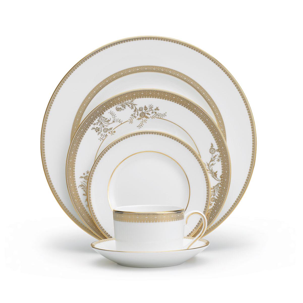 Vera Wang Wedgwood China Vera Lace Gold, 5 Piece Place Setting