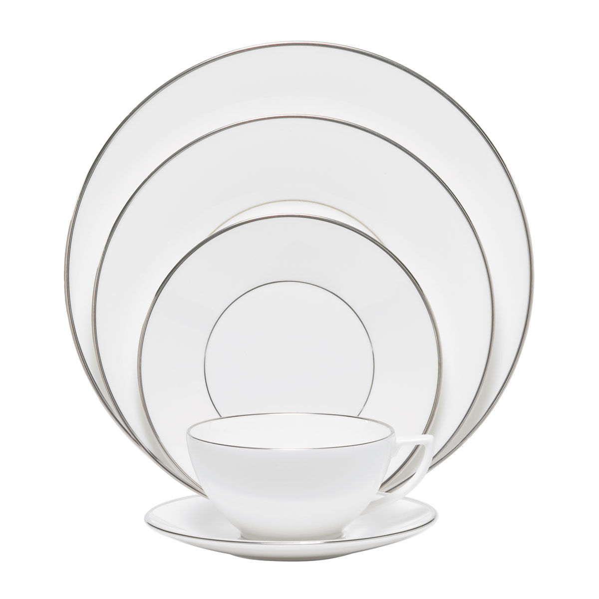 Wedgwood Jasper Conran Platinum 5 Piece Place Setting Lined