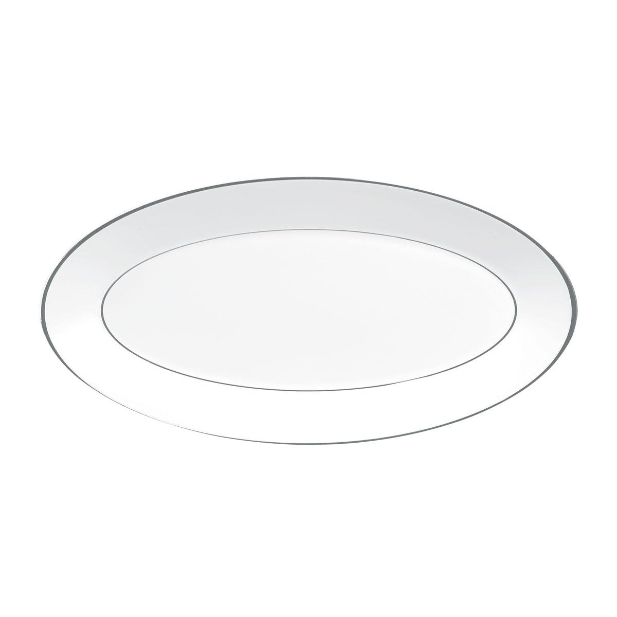 "Wedgwood Jasper Conran Platinum Oval Platter 15.5"""