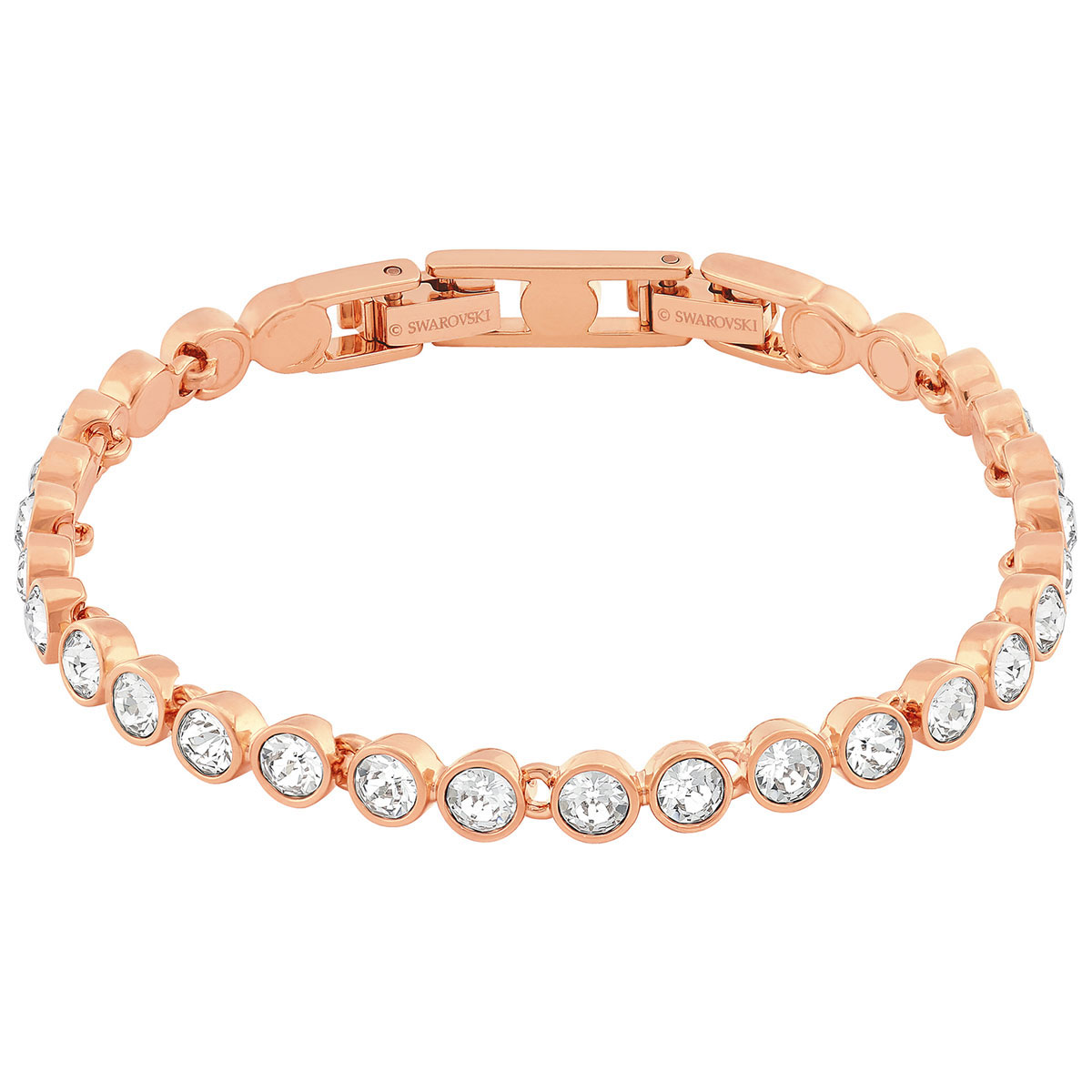 Swarovski Tennis Bracelet, White, Rose Gold