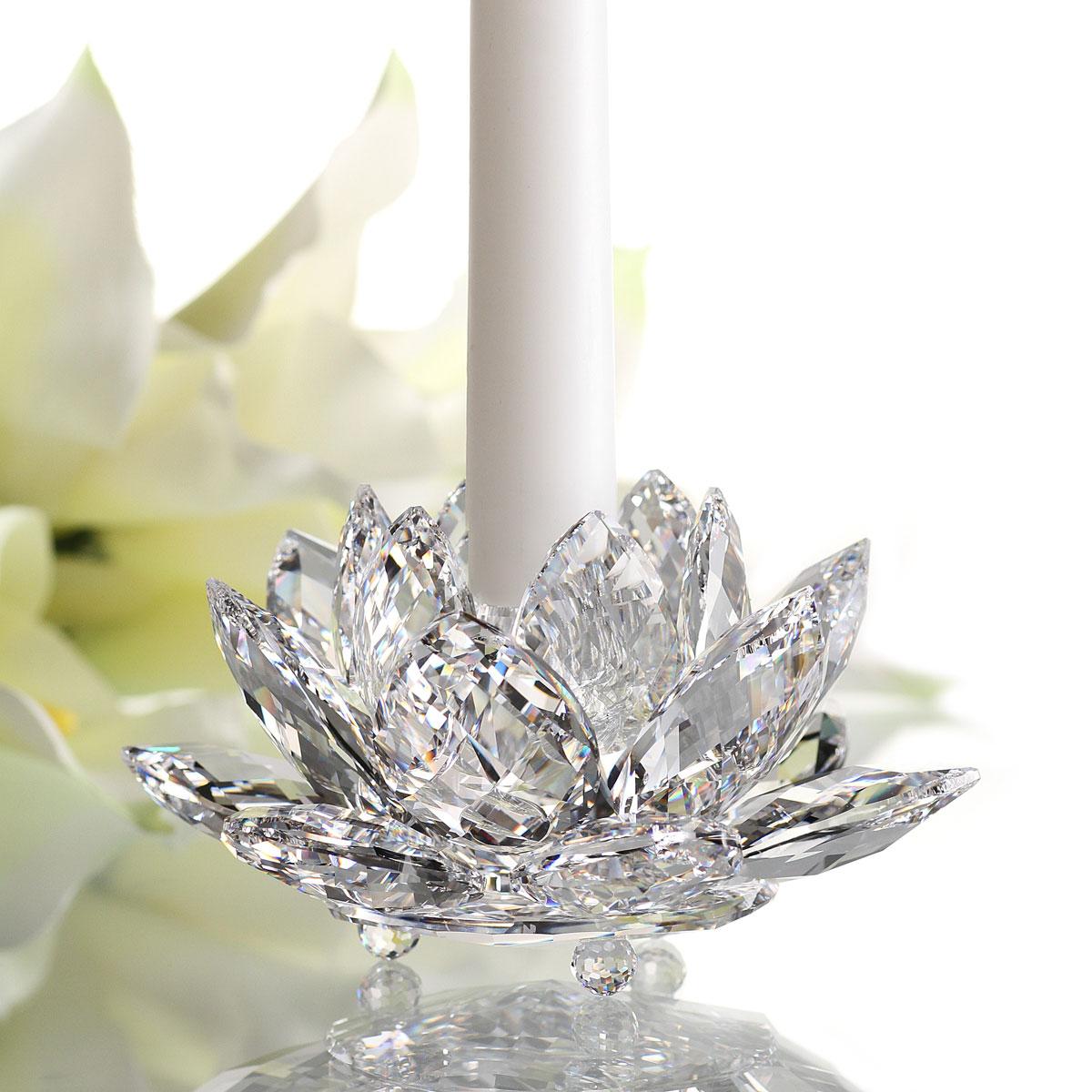 Swarovski Crystal Waterlilly Crystal Candleholder Large