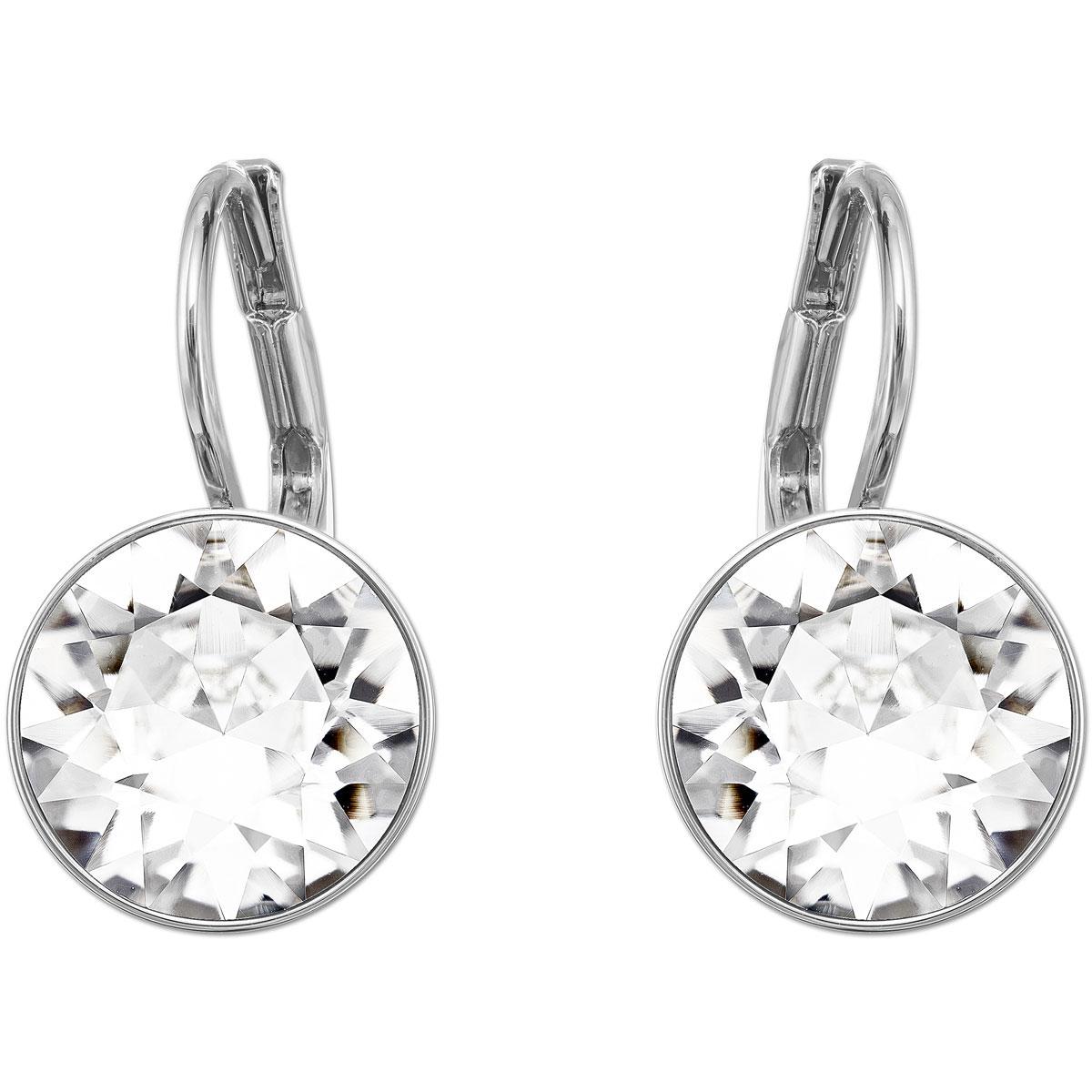 Swarovski Bella Mini Earrings, White, Rhodium