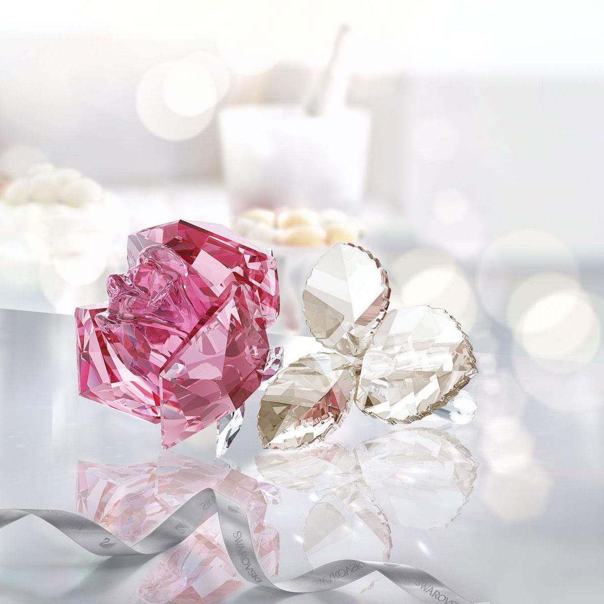 Swarovski Crystal Blossoming Rose Light Rose