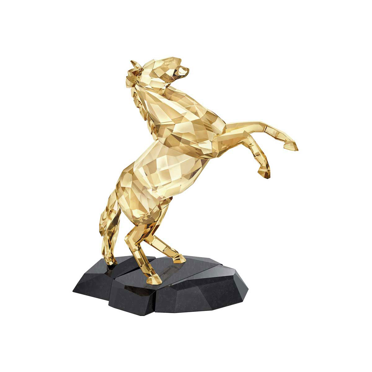 Swarovski Crystal Soulmates Golden Shine Stallion Sculpture